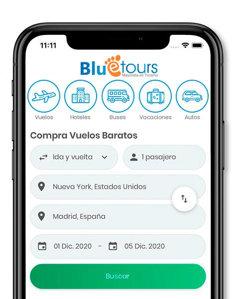 App Blue Tours